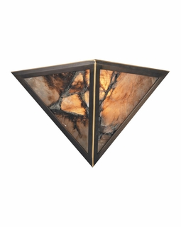 9003/2 Transitional Imperial Granite 2 Light Wall Sconce In Solid Antique Brass
