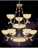 930-WH Crystorama Natural Alabaster 12 Light French White Chandelier