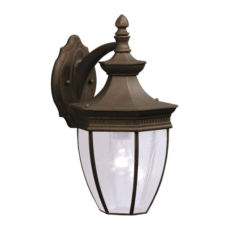 9369tzg Kichler Lighting Warrington Outdoor Wall Sconce In Tannery Bronze With Gold Accent Discontinued Item