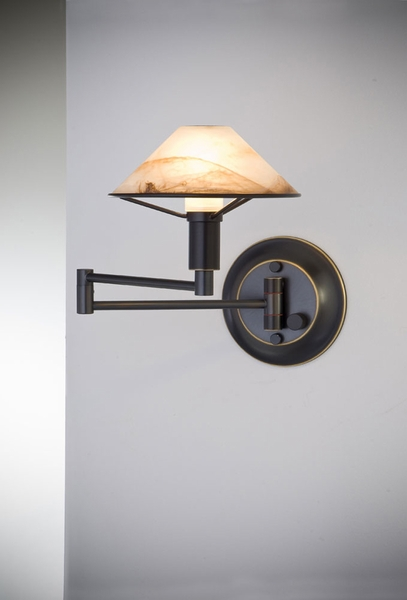 Wall Sconces With Dimmer : 9426 Holtkotter Swing-Arm Wall Sconce with Full Range Turn Knob Dimmer