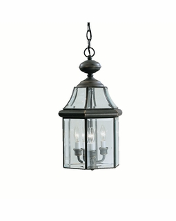 9885OZ Kichler Fixtures Traditional Olde Bronze Outdoor Pendant 3Lt