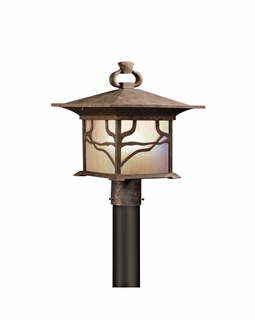 9920DCO Kichler Fixtures Arts and Crafts/Mission Distressed Copper Outdoor Post Mt 1Lt