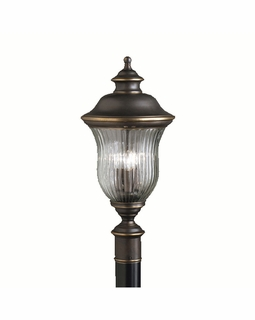 9932OZ Kichler Fixtures Traditional Olde Bronze Outdoor Post Mt 3Lt