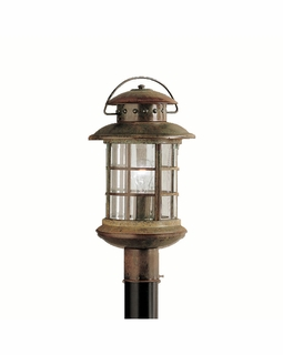 9962RST Kichler Fixtures Lodge/Country/Rustic Rustic Outdoor Post Mt 1Lt