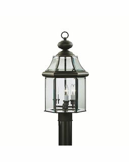 9985OZ Kichler Fixtures Traditional Olde Bronze Outdoor Post Mt 3Lt