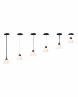 9996 Framburg Lighting Black Forest Adjustable Mini Pendant