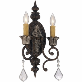 9P-1561-2-8 Savoy House Traditional Elizabeth 2 ADA Light Sconce with New Tortoise Shell w/Silver Finish