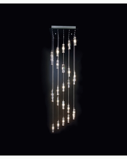 """A900026-25-S Trend """"Icarus Falling"""" Chandelier with Polished Chrome (DISCONTINUED PRODUCT)"""