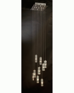 """A900026-9-T Trend """"Icarus Falling"""" Chandelier with Polished Chrome (DISCONTINUED PRODUCT)"""