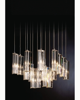 "A900126-16-S Trend ""Diamante"" 16 Light with Polished Chrome (DISCONTINUED PRODUCT)"