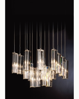 """A900126-16-T Trend """"Diamante"""" 16 Light with Polished Chrome (DISCONTINUED PRODUCT)"""