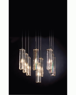 """A900126-9-S Trend """"Diamante"""" 9 Light with Polished Chrome (DISCONTINUED PRODUCT)"""