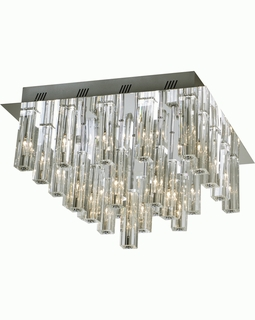 """A908026-25-T Trend """"Horizons Ii"""" Flushmount with Polished Chrome (DISCONTINUED PRODUCT)"""