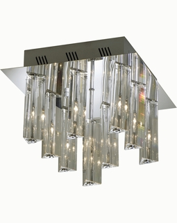 """A908026-9-T Trend """"Horizons I"""" Flushmount with Polished Chrome (DISCONTINUED PRODUCT)"""