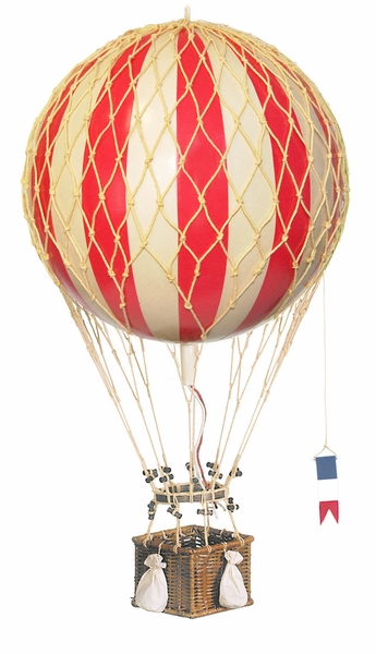 Ap168r Authentic Models Jules Verne Balloon True Red