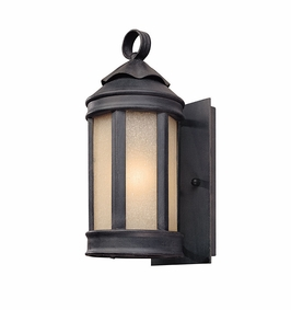 Troy Andersons Forge Exterior 1Lt Wall Lantern Medium Base with Aged Iron Finish
