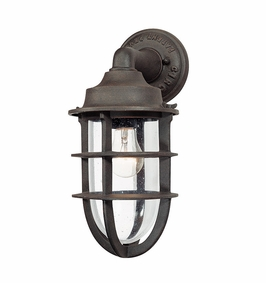 Troy Wilmington Exterior 1Lt Wall Lantern Medium Base with Nautical Rust Finish