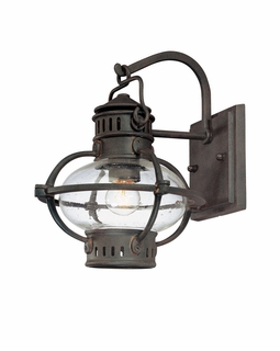 B1871BB Troy Exterior Portsmouth Boston Bronze with Rust Accents Small 1 Light Wall Lantern