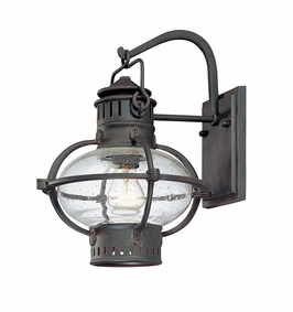B1872BB Troy Exterior Portsmouth Boston Bronze with Rust Accents Medium 1 Light Wall Lantern