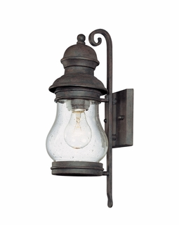 B1881HPB Troy Exterior Hyannis Port Bronze Small 1 Light Wall Lantern