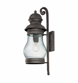 B1883HPB Troy Exterior Hyannis Port Bronze Large 1 Light Wall Lantern