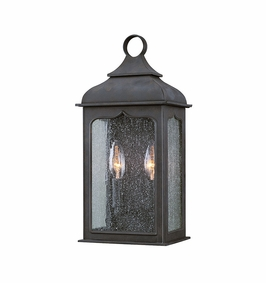 Troy Henry Street Exterior 2Lt Pocket Lantern Candelabra with Colonial Iron Finish