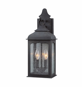 Troy Henry Street Exterior 2Lt Wall Lantern Candelabra with Colonial Iron Finish