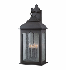 Troy Henry Street Exterior 4Lt Wall Lantern Candelabra with Colonial Iron Finish