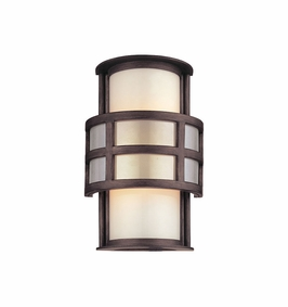 Troy Discus Exterior 1Lt Wall Lantern Candelabra with Graphite Finish