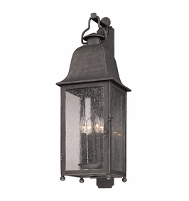 Troy Larchmont Exterior 4Lt Wall Lantern Candelabra with Aged Pewter Finish