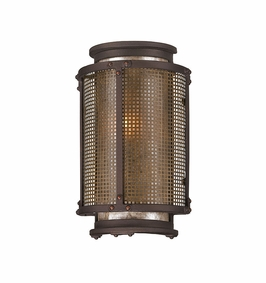 Troy Copper Mountain Exterior 1Lt Wall Lantern Candelabra with Centennial Rust Finish