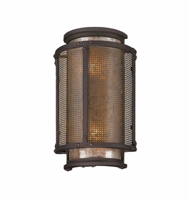Troy Copper Mountain Exterior 2Lt Wall Lantern Candelabra with Centennial Rust Finish