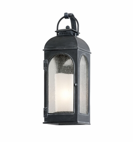 Troy Derby Exterior 1Lt Wall Lantern Candelabra with Antique Iron Finish