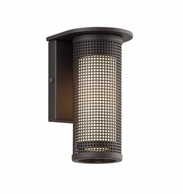 Troy Hive Exterior 1Lt Wall Sconce Candelabra with Bronze Finish