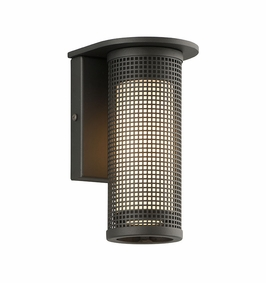 Troy Hive Exterior 1Lt Wall Sconce Candelabra with Matte Black Finish