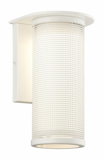 Troy Hive Exterior 1Lt Wall Sconce Candelabra with Satin White Finish