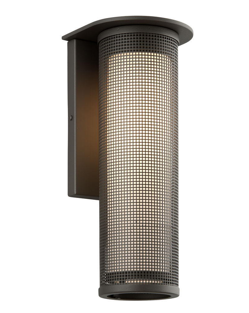 B3743BZ Troy Exterior Hive Large 1Lt Aluminum Wall Mount Lantern in Bronze Finish