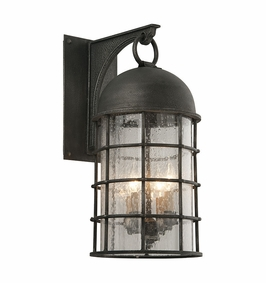 Troy Charlemagne Exterior 4Lt Wall Lantern Large Candelabra with Aged Pewter Finish