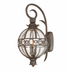 Troy Campanile Exterior 3Lt Wall Lantern Candelabra with Campanile Bronze Finish