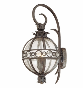 Troy Campanile Exterior 4Lt Wall Lantern Candelabra with Campanile Bronze Finish