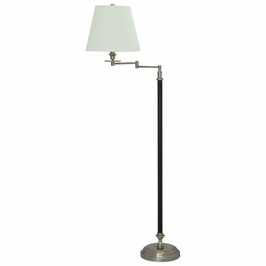 "B501-BWB House of Troy Bennington 61"" Black and Weathered Brass Swing Arm Floor Lamp"