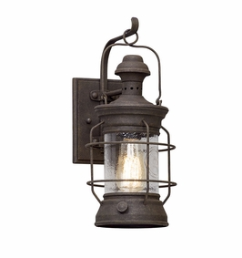 Troy Atkins Exterior 1Lt Wall Lantern Small Medium with Centenial Rust Finish