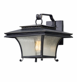 Troy Grammercy Exterior 1Lt Wall Lantern Medium Medium with Forged Iron Finish