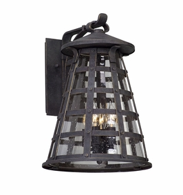Troy Benjamin Exterior 4Lt Wall Lantern Large Candelabra with Vintage Iron Finish