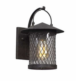 Troy Altamont Exterior 1Lt Wall Lantern Small Medium with French Iron Finish