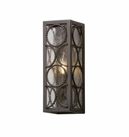 Troy Bacchus Exterior 1Lt Wall Lantern Small Candelabra with Textured Bronze Finish