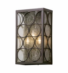 Troy Bacchus Exterior 3Lt Wall Lantern Large Candelabra with Textured Bronze Finish
