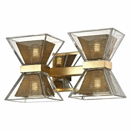 Troy Lighting Interior Modern Expression 4Lt Wall Bath Gold Leaf Gold Leaf