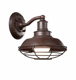 Troy Circa 1910 Exterior 1Lt Wall Down Light Medium Base with Old Rust Finish