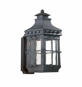 Troy Dover Exterior 1Lt Wall Lantern Medium Base with Natural Bronze Finish